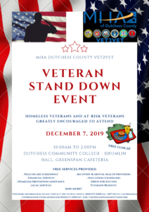 Veteran Stand Down Event on Dec 7th, 2019