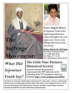 Historical Program in Pine Plains on March 20