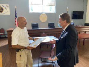Sen. Harckham Honors Carmel Police Chief Cazzari on His Retirement