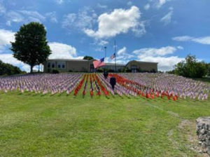 Rep. Delgado Visits 9/11 Flag Display in Stanford