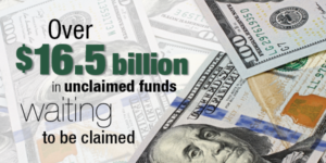 Search Lost Money, Over $16.5 Billion in Unclaimed Funds