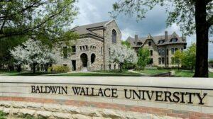 Dominique Altomari receives a Women for BW Giving Circle Award at Baldwin Wallace University