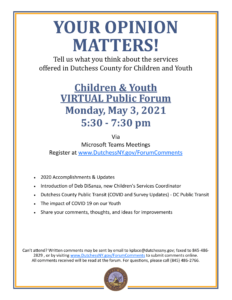 #BreakingThrough Virtual Public Forum: Mental Health Servicesfor Children & Youth