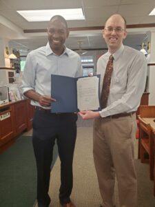 Congressman Delgado visits Pawling Library