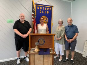 Newly elected officers were recently inducted into the Pawling Rotary Club.