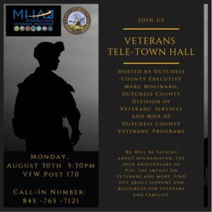 Dutchess County Veteran Tele-Town Hall Tonight at 5:30 pm