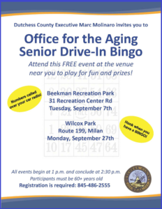 Drive-In Bingo Events This Month