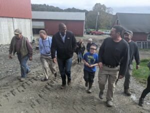 Rep. Delgado Tours Coon Brothers Dairy Farm with Farm Credit East